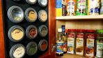 diy magnetic dollar store spice rack finished