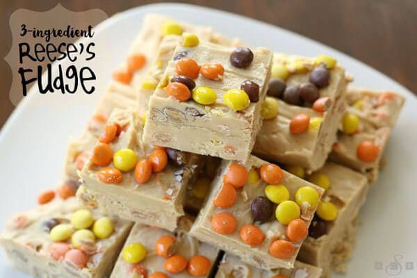 3 Ingredient Reese's Fudge