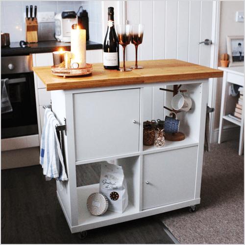 IKEA Kallax Kitchen Island Hack via Jen Lou Meredith