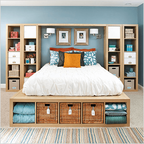 DIY Platform Bed via BHG