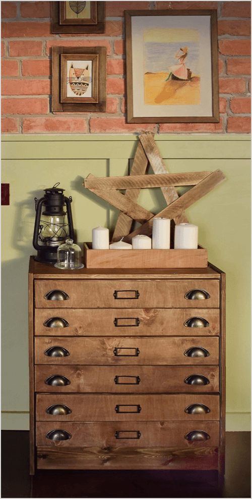 Apothecary Cabinet from RAST Chest of Drawers via IKEA Hackers