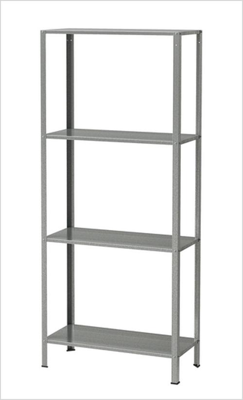 Wood and Metal IKEA Hack Industrial Shelf via Remodelaholic