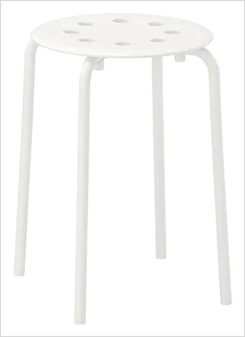 IKEA DIY Fur Stool via Dainty