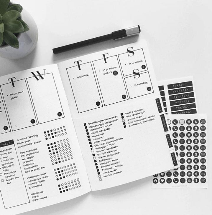 modern weekly planner minimalist