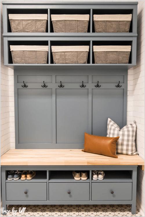 IKEA Hemnes Hack: DIY Mudroom Bench and Storage via House by Hoff