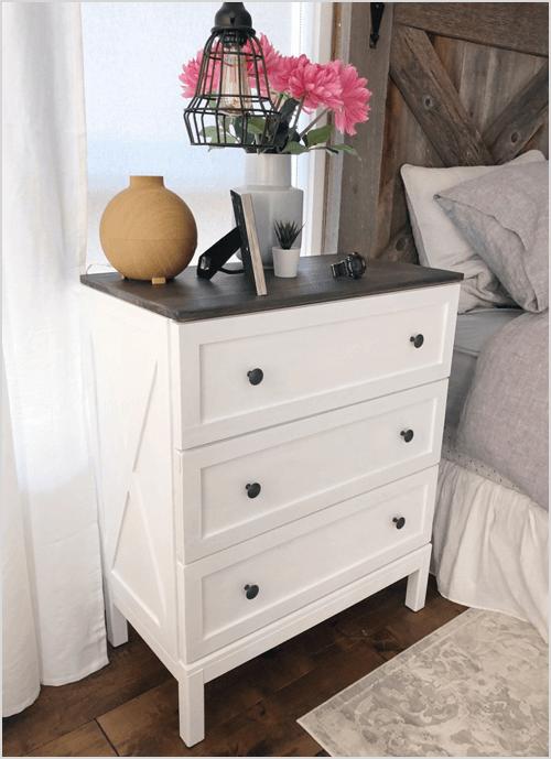 Make your own 'IKEA Hack' Farmhouse Dresser via Our Humanist Home