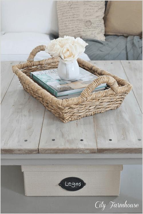 IKEA Hacked Barnboard Coffee Table Tutorial via City Farmhouse