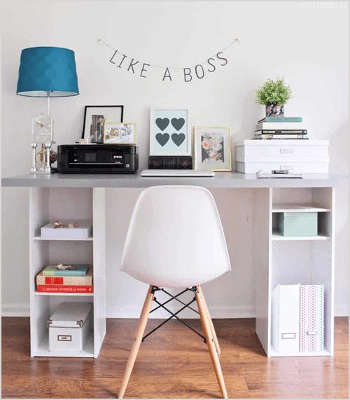 IKEA Hack: DIY Desk Under $60 via Pretty Providence