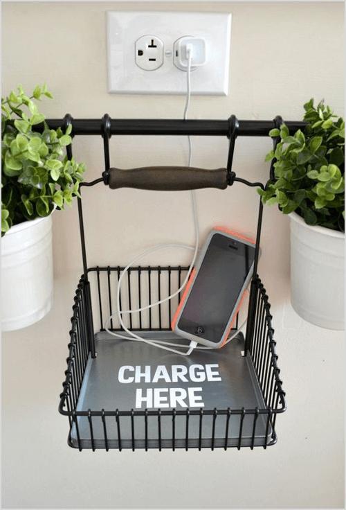 DIY Charging Station Using IKEA Fintorp System via Hometalk