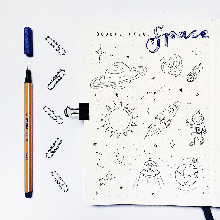 doodle ideas for space