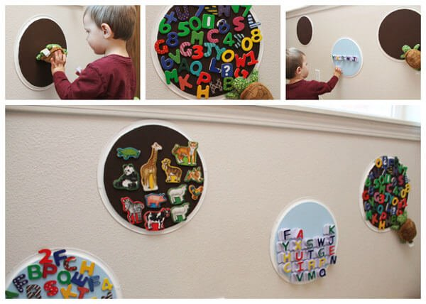 Magnetic Toy Storage with Pizza Pans