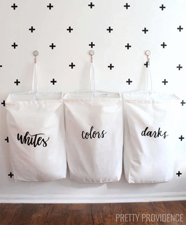 DIY Laundry Organization Bags