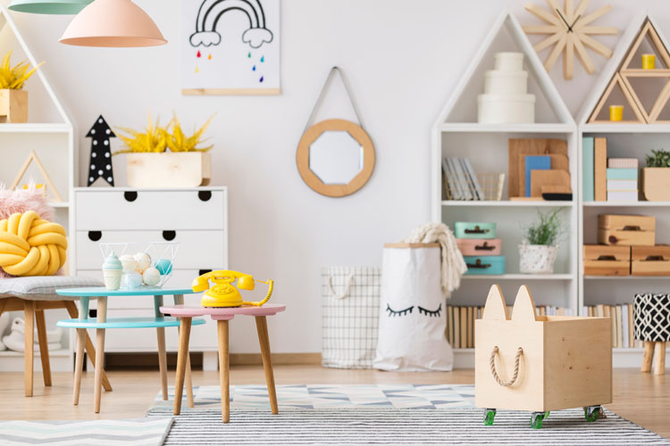 modern playroom set up