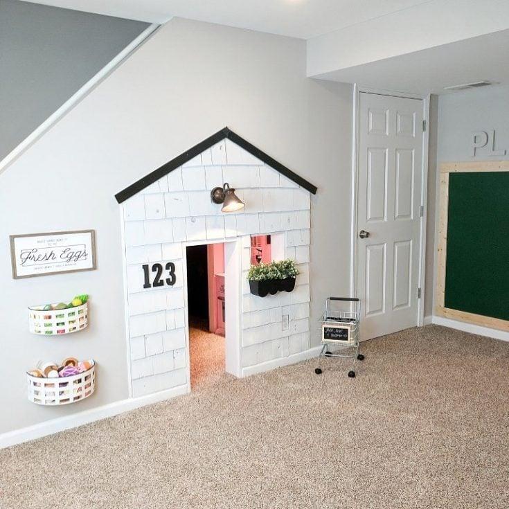 playroom under stairs
