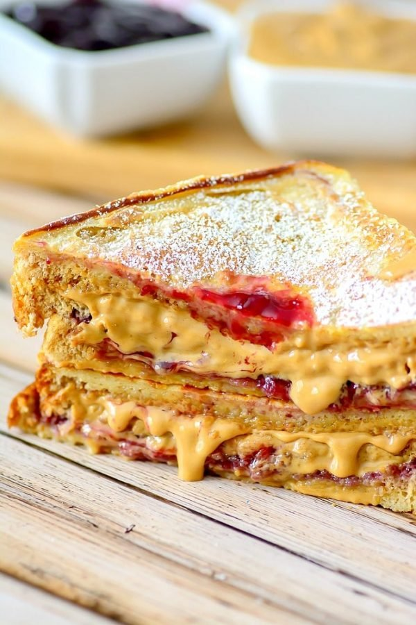 Fried gourmet peanut butter and jelly
