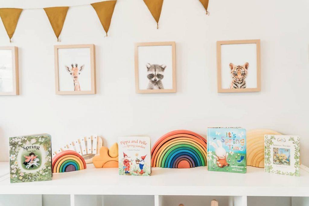 animal prints on wall