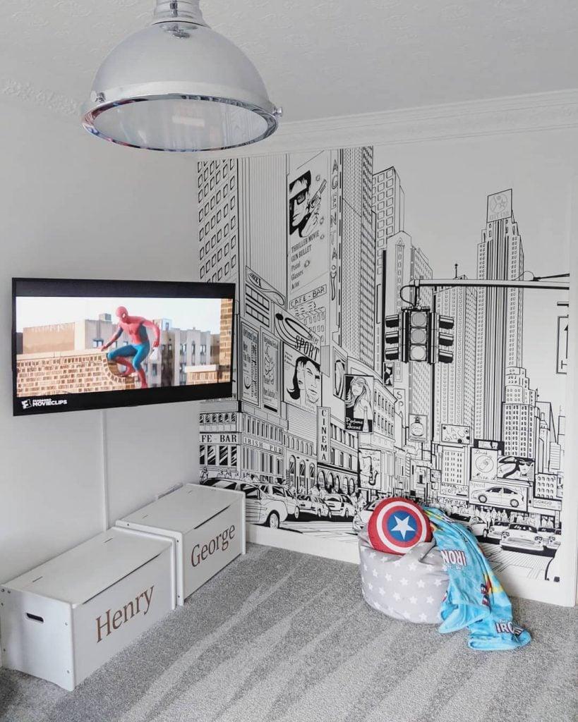 comic book wall design