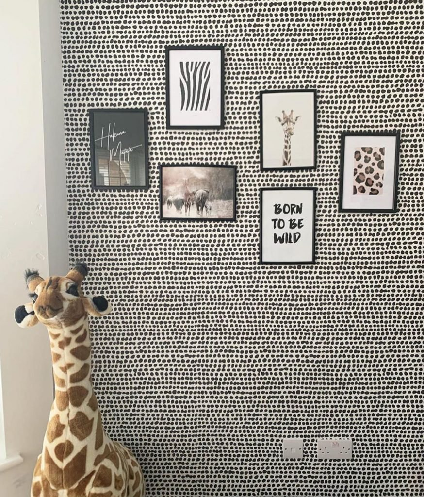 black dotted wall