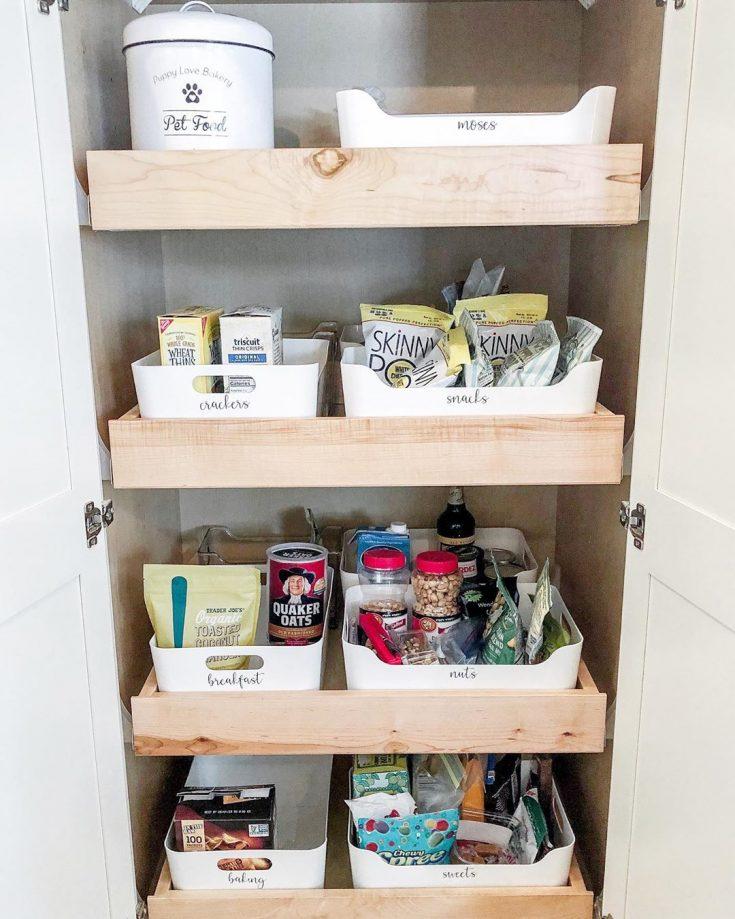 organize pantry items