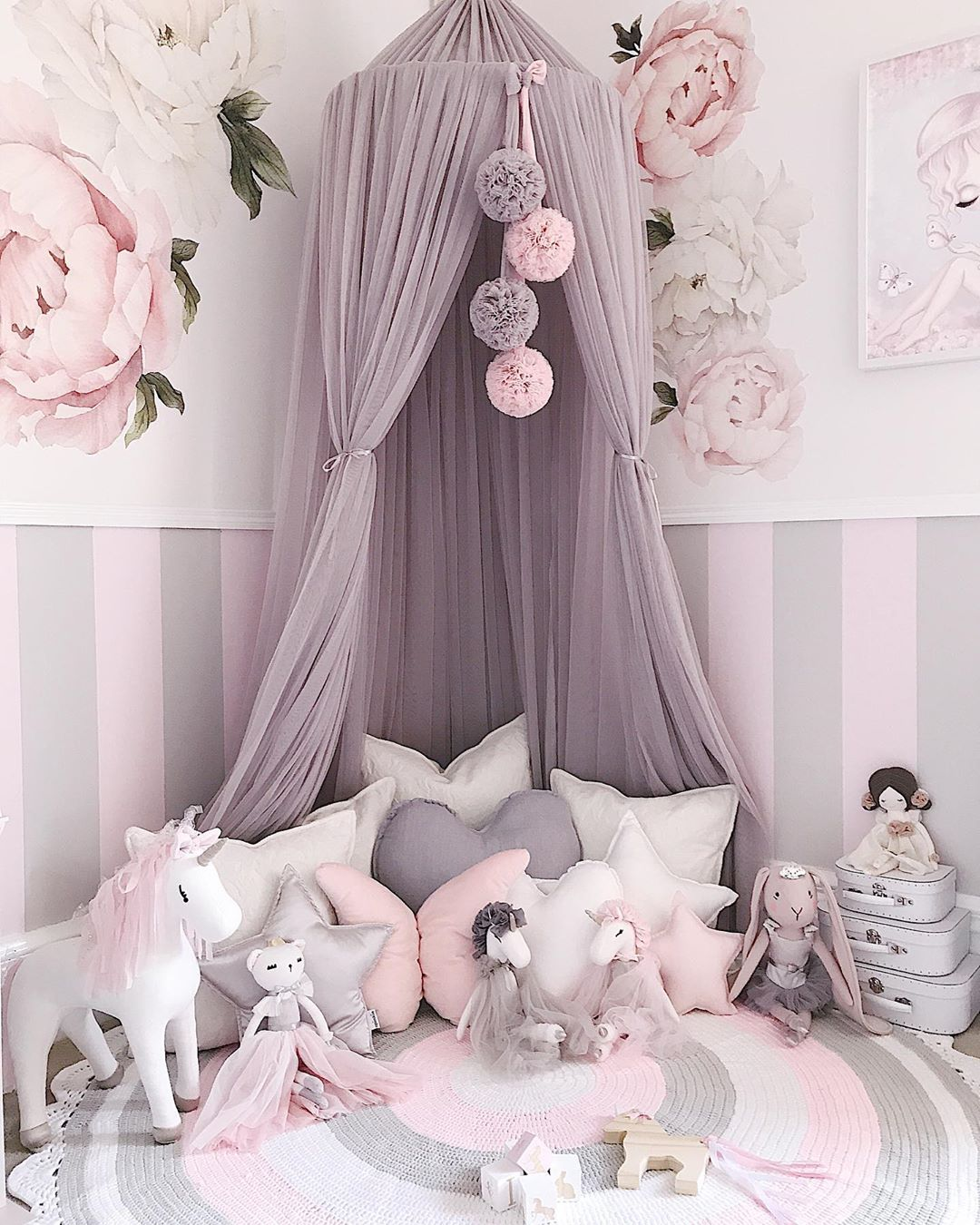 canopy in girls room