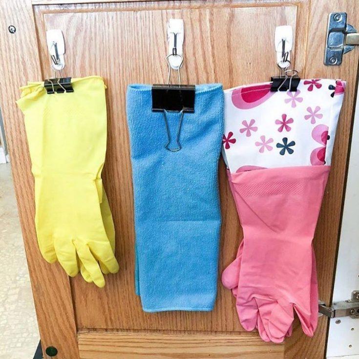 organize rubber gloves
