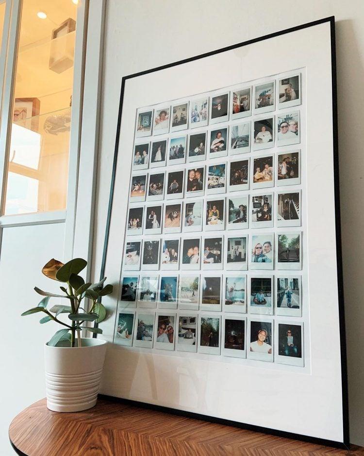 polaroids in frame