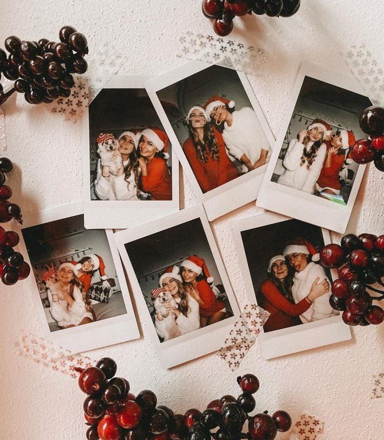 christmas polaroid design