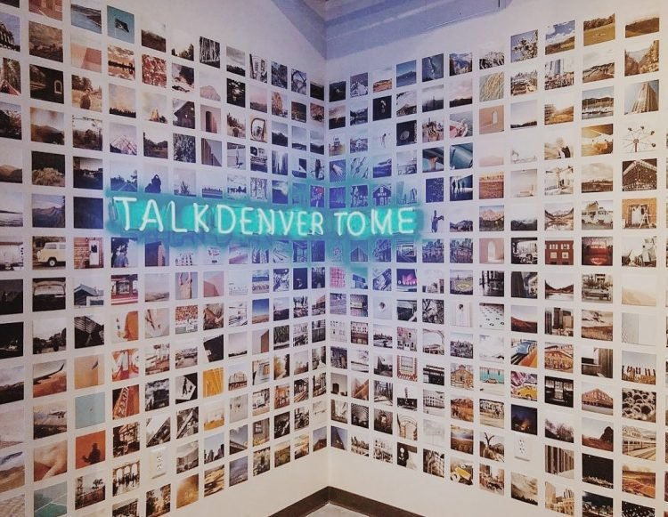 wall covered with pictures