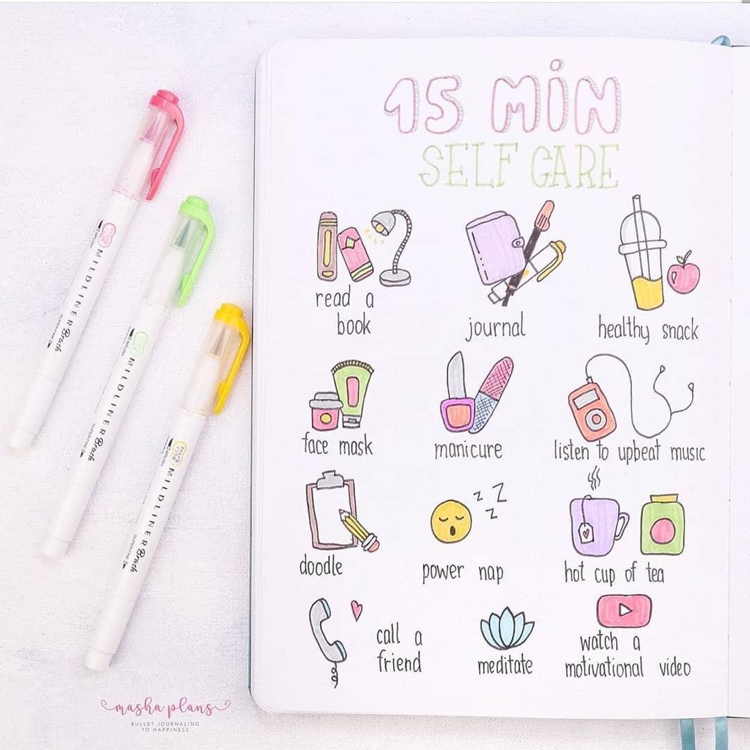 self care doodles