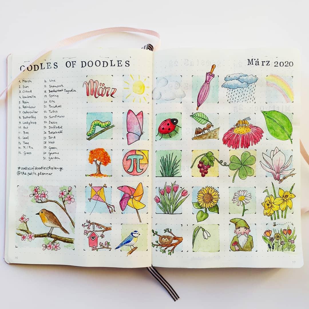 seasons doodles