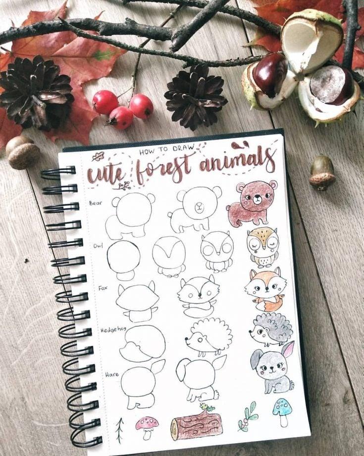 forest animal doodles