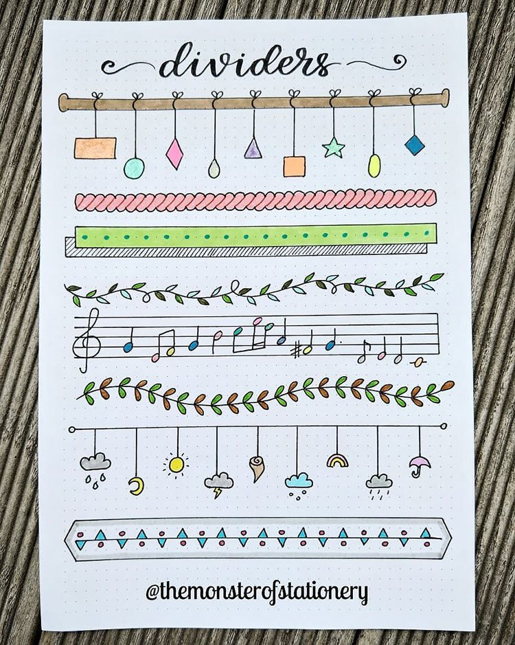 music note dividers and more
