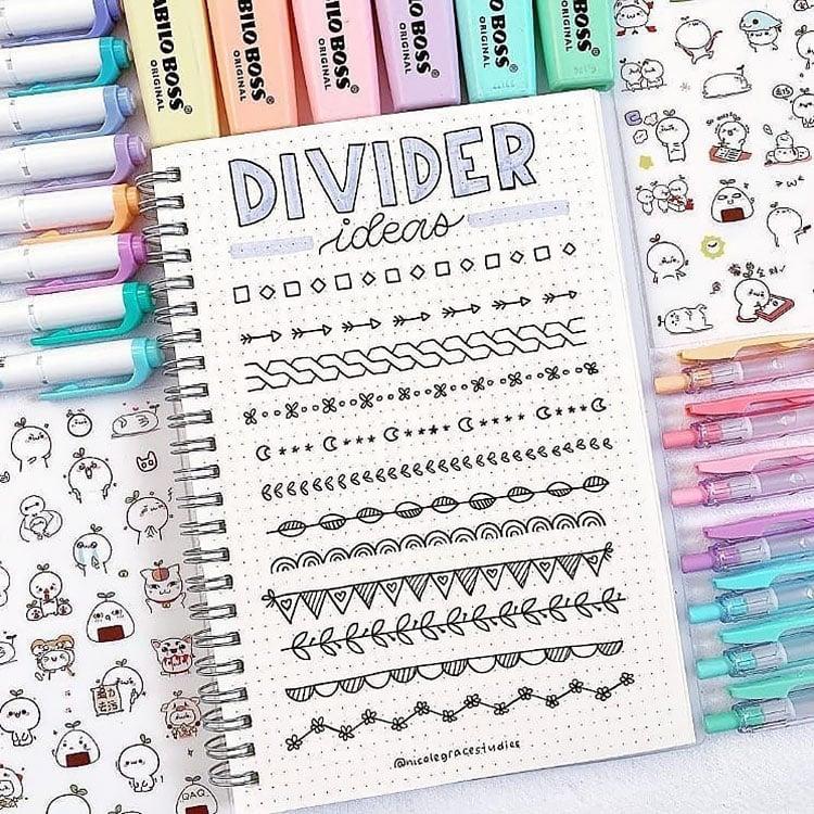 creative divider ideas like moon and stars
