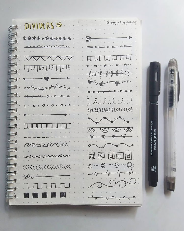 divider ideas like hearts and ocean waves