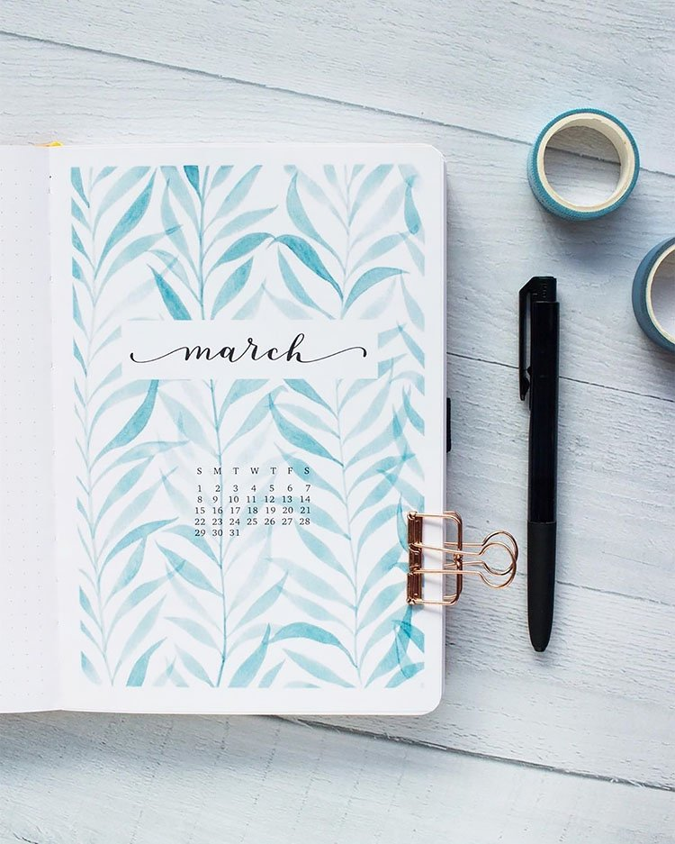 blue leaves march cover