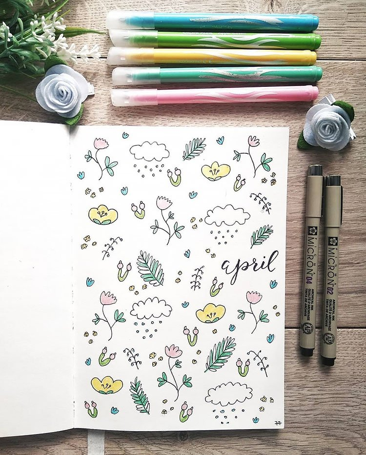april flowers and showers cover page
