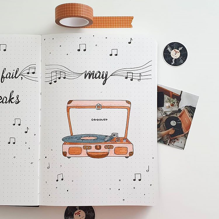 record player may cover page