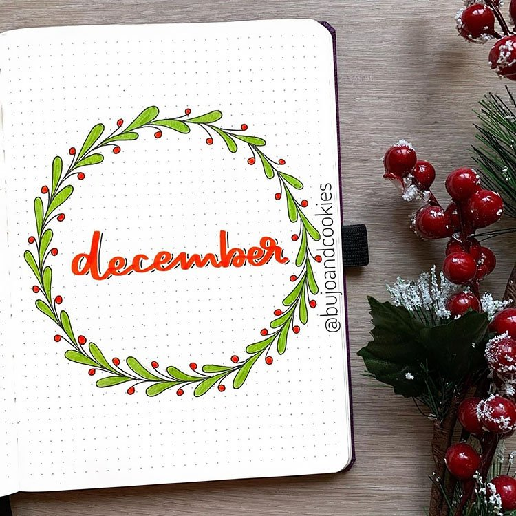 december wreath cover page