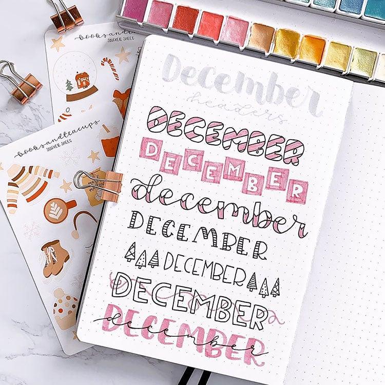 december headers
