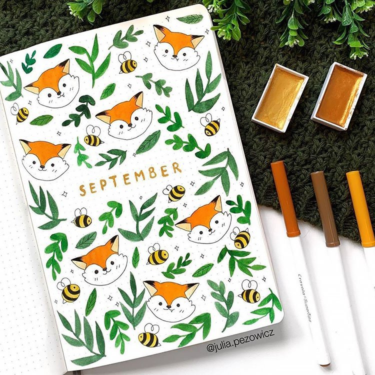 fox and bees september cover page