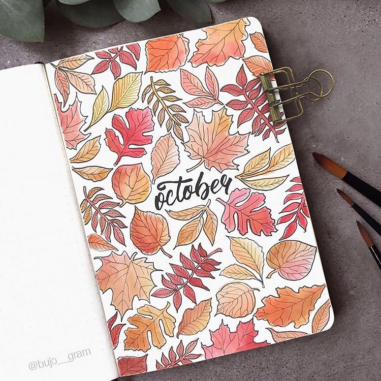 october leaves design