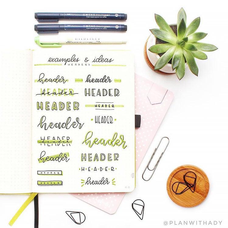 green header ideas