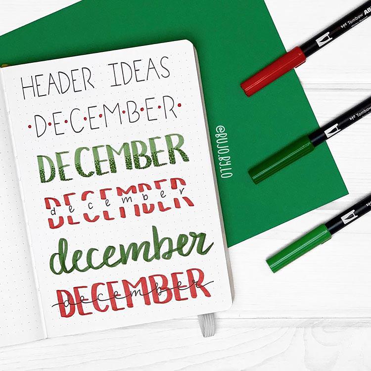 december header ideas