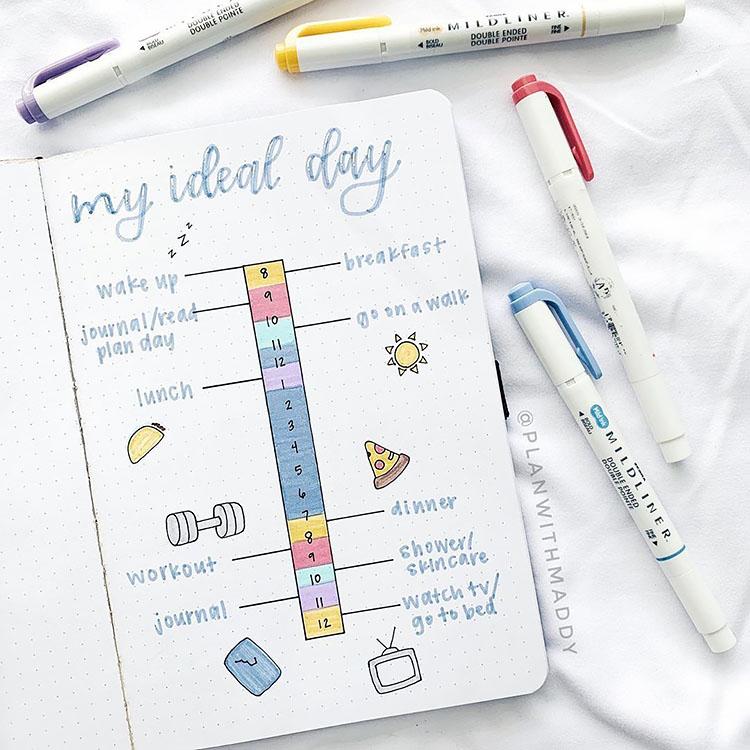 day planner for bullet journal