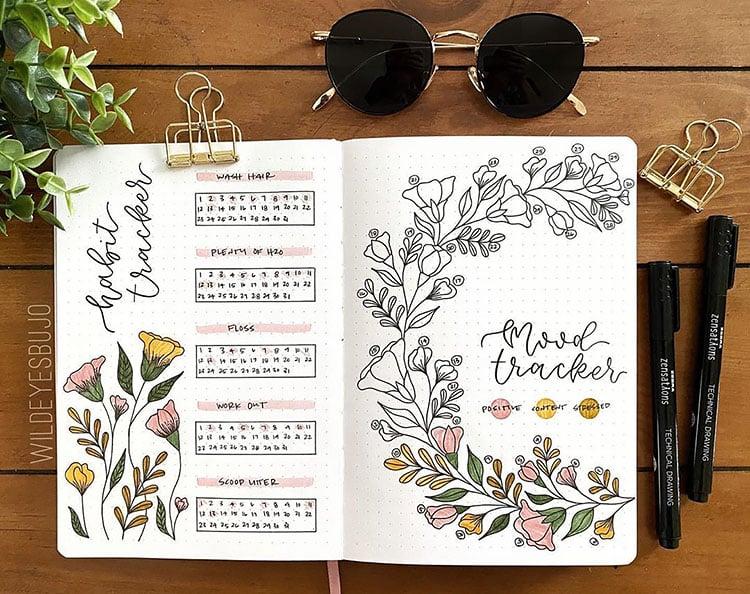 floral mood tracker