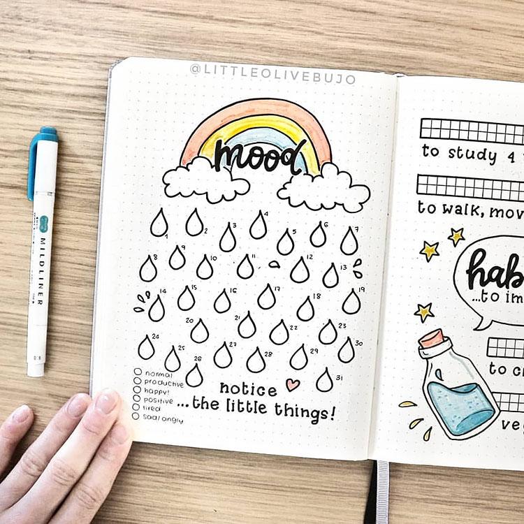 rainbow mood tracker
