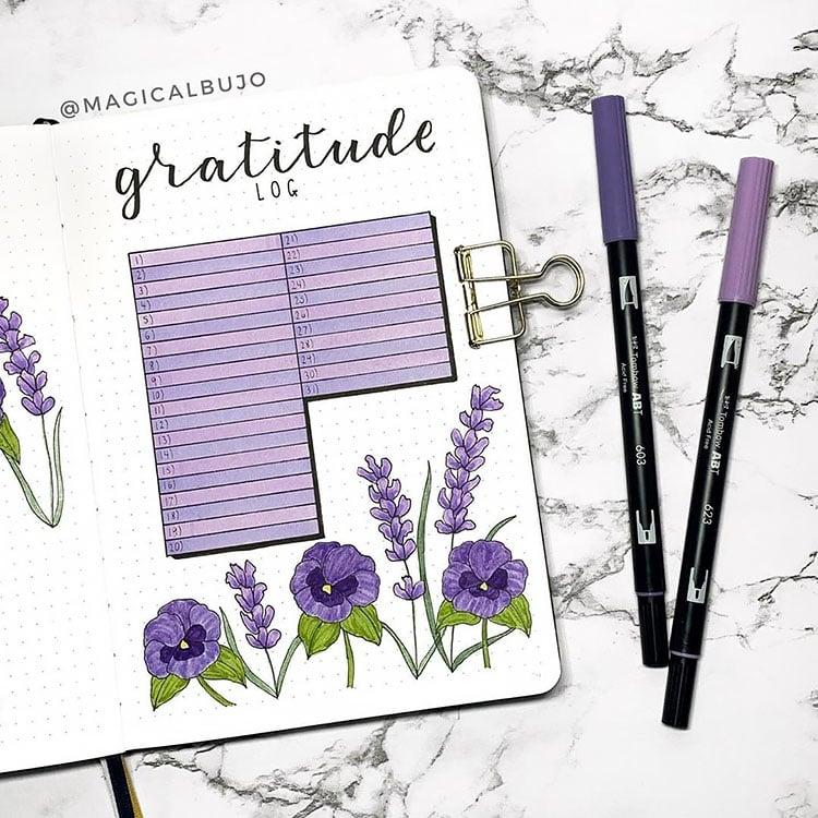 purple gratitude log