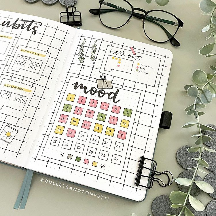squares mood tracker