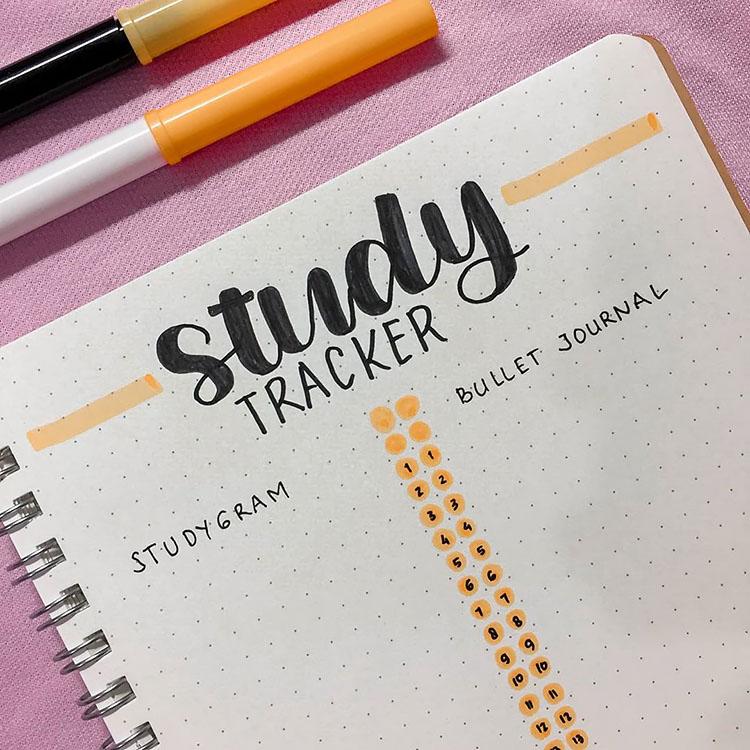 yellow and black study tracker