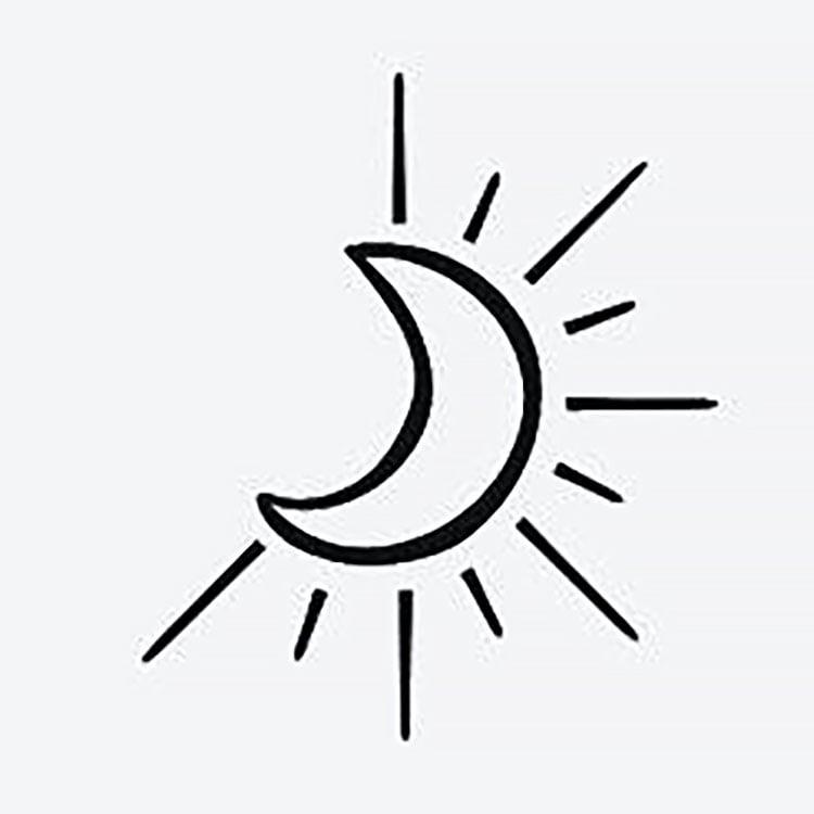 easy moon drawing